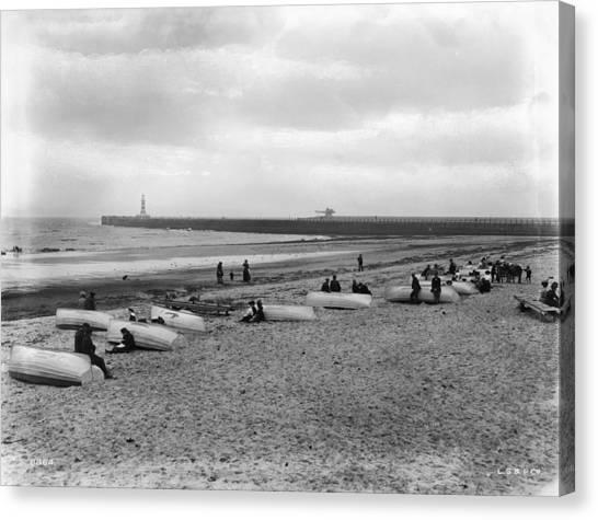 Sunderland Canvas Print - Roker Pier by London Stereoscopic Company