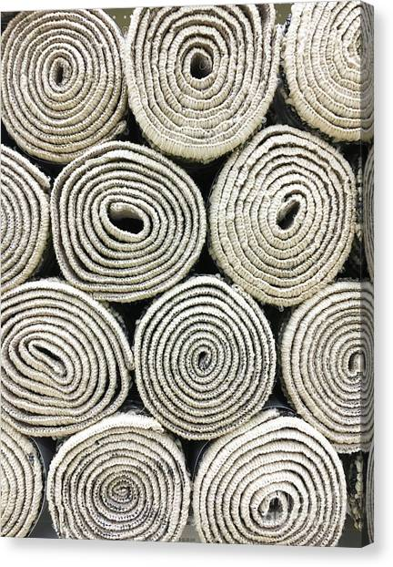 Canvas Print - Rolled Rugs Background by Tom Gowanlock