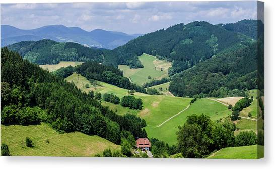 Rolling Hills Of The Black Forest Canvas Print