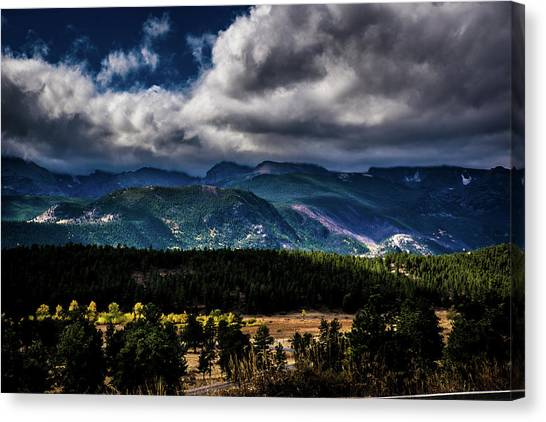 Canvas Print featuring the photograph Rolling Rockies by James L Bartlett