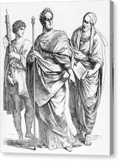 Roman Garb Canvas Print by Hulton Archive