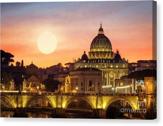 Roman Sunset Canvas Print