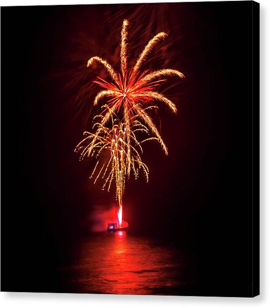 Fireworks Canvas Print - Romancing In The Dark Collection Set 02 by Az Jackson