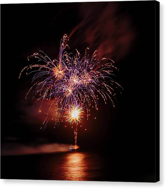 Fireworks Canvas Print - Romancing In The Dark Collection Set 03 by Az Jackson