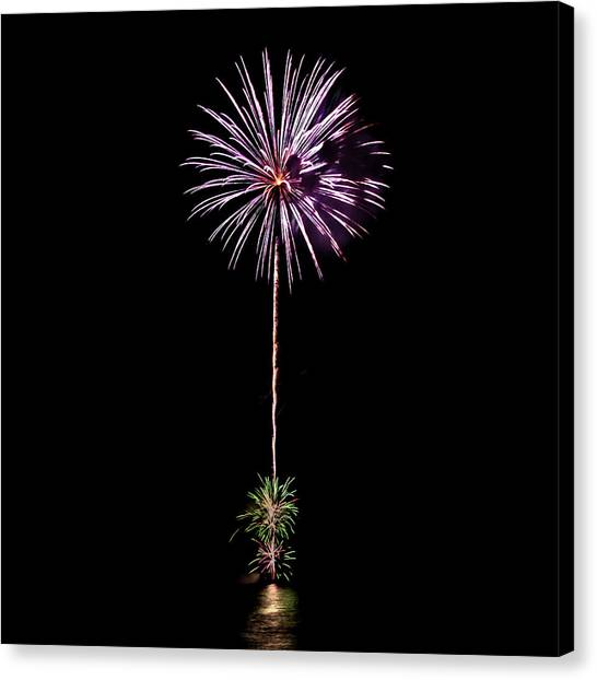Fireworks Canvas Print - Romancing In The Dark Collection Set 04 by Az Jackson