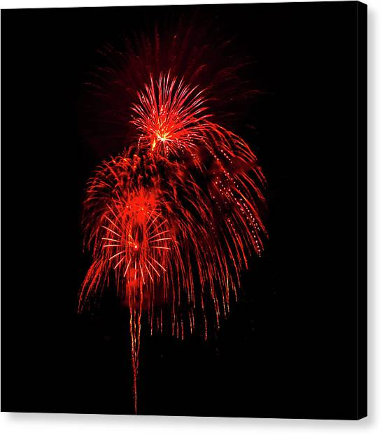 Fireworks Canvas Print - Romancing In The Dark Collection Set 07 by Az Jackson