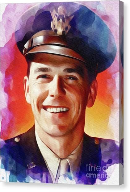 Ronald Reagan Canvas Print - Ronald Reagan, Actor And President by John Springfield