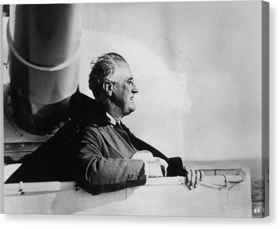 Roosevelt At Sea Canvas Print by Keystone
