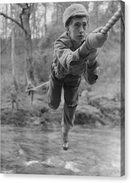 Protective Clothing Canvas Print - Rope Crossing by John Drysdale