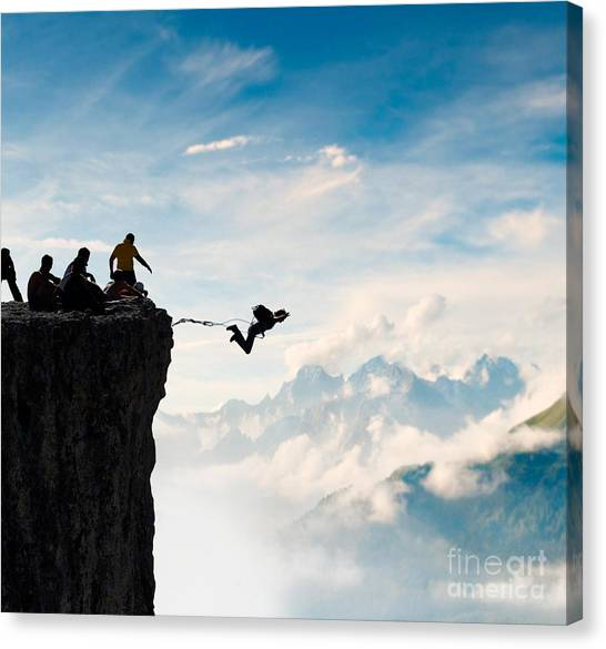 Rope Jumping Canvas Print by Alexei Zinin