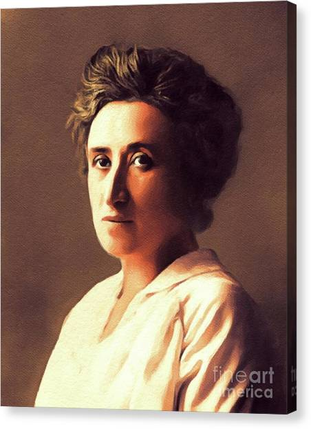 Philosopher Canvas Print - Rosa Luxemburg, Philosopher And Activist by John Springfield
