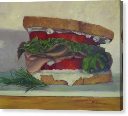 Mayonnaise Canvas Print - Rosemary's Turkey Delight by Marilyn Place