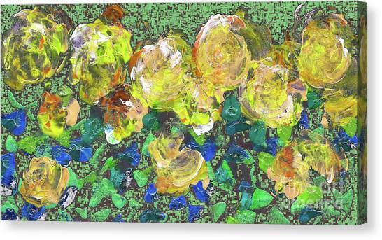 Roses 1001 Yellow Canvas Print
