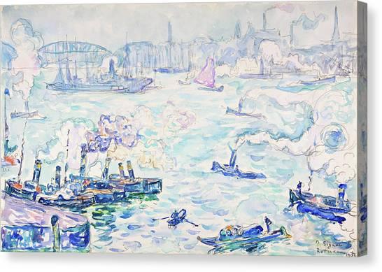 Signac Canvas Print - Rotterdam - Digital Remastered Edition by Paul Signac