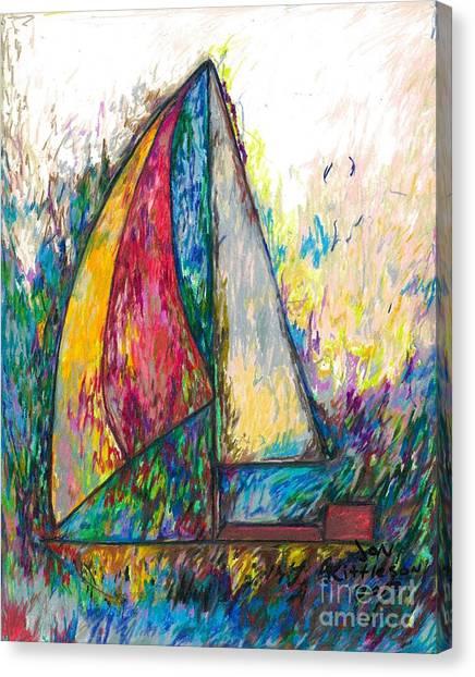 Rough Sailing Canvas Print