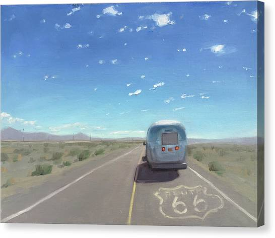 Route 66, Somewhere In California Canvas Print