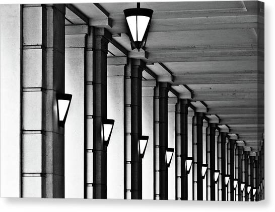 Row Of Lamps Canvas Print