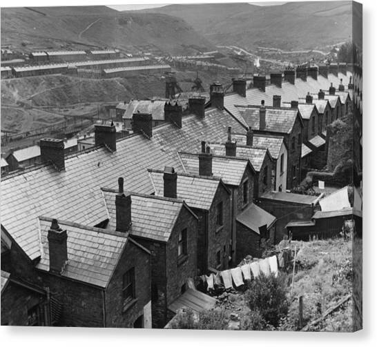Row Of Rooftops Canvas Print by Charles Fenno Jacobs