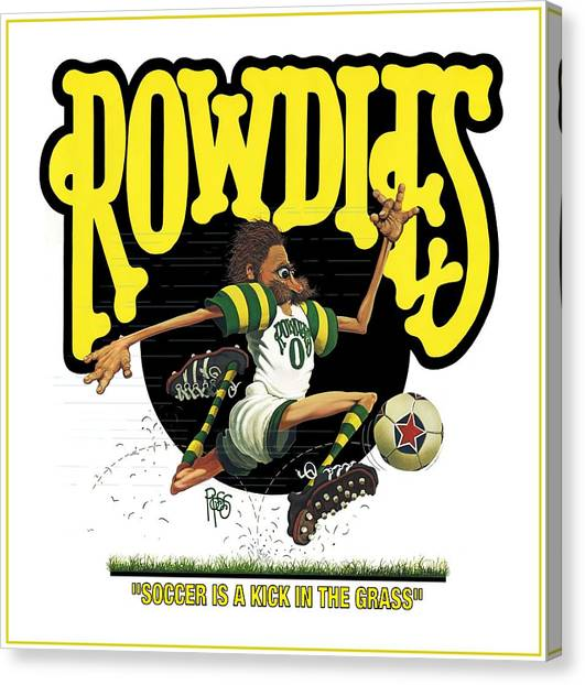 Rowdies Old School Canvas Print