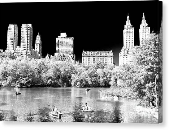 Rowing In Central Park New York City Canvas Print