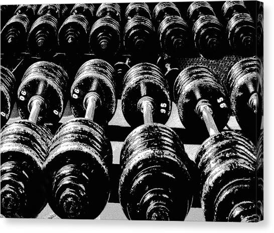 Rows Of Dumbbells Canvas Print