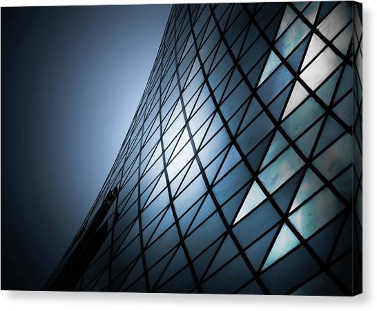 Canvas Print featuring the photograph Roy Thomson Hall Toronto Canada No 2 by Brian Carson