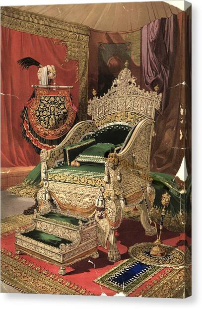 Royal Throne Canvas Print by Hulton Archive