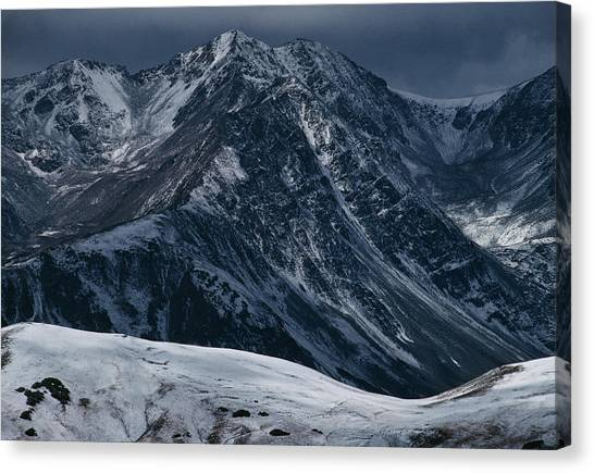 Rugged Rocky Mountains Canvas Print by Aluma Images