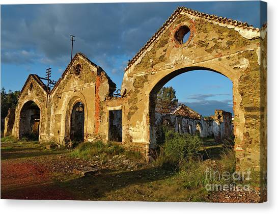 Ruins Of The Abandoned Mine Of Sao Domingos. Portugal Canvas Print