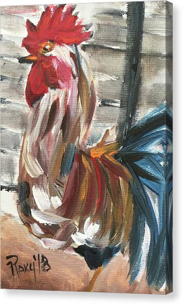 Farmhouse Canvas Print - Ruling The Roost by Roxy Rich