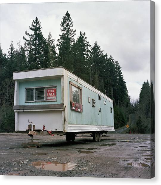 Run Down Trailer Canvas Print by Photo By Christopher Hall