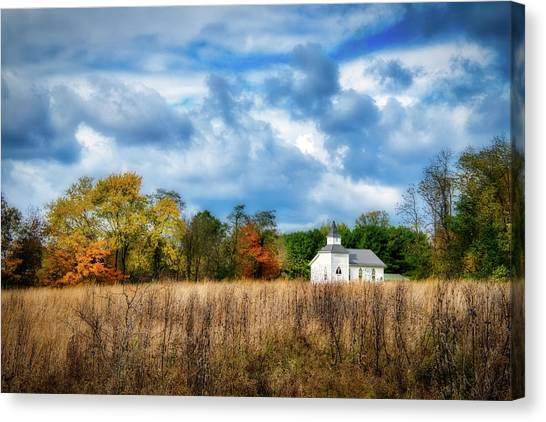 Worship Canvas Print - Rural Church by Tom Mc Nemar