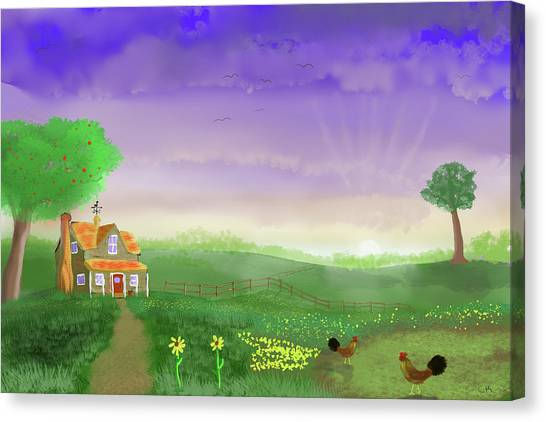 Canvas Print featuring the digital art Rural Wonder by Chance Kafka