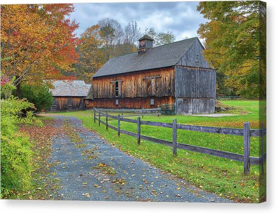 Canvas Print featuring the photograph Rustic Barn by Juergen Roth