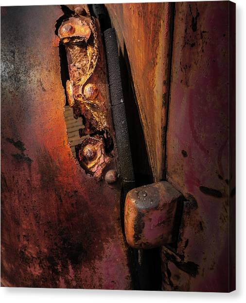 Canvas Print featuring the photograph Rusty Hinge by Juan Contreras