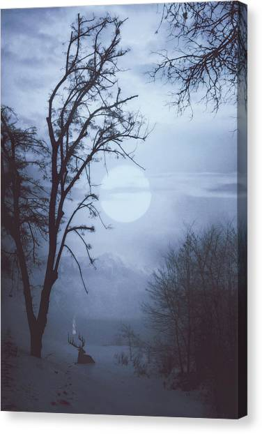 Winter Canvas Print - Sacred Blood by Cambion Art