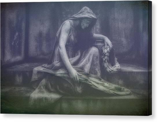 Cemetery Canvas Print - Sadness And Sorrow by Tom Mc Nemar