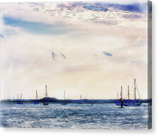 Canvas Print featuring the digital art Safe Harbor by Barry Jones