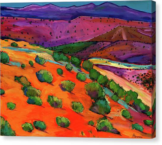 Colorful Canvas Print - Sage Slopes by Johnathan Harris