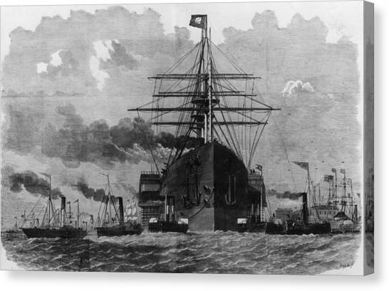 Sail And Steam Canvas Print by Hulton Archive