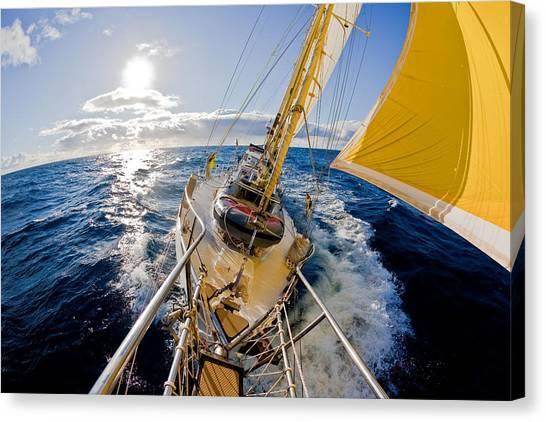 Sailing A Ketch Canvas Print by John White Photos