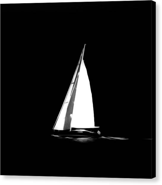 Sailing In The Night Canvas Print