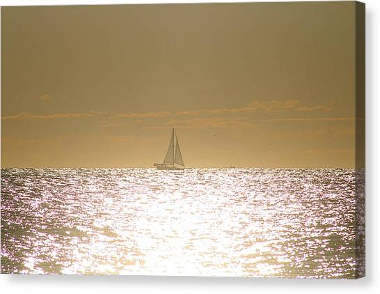 Canvas Print featuring the photograph Sailing On Sunshine by Robert Banach