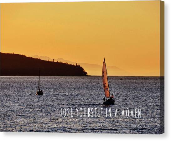 Sailing The English Bay Quote Canvas Print by JAMART Photography