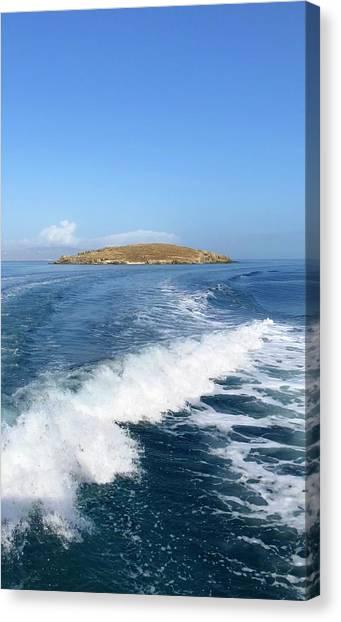 Sailing To Delos Canvas Print