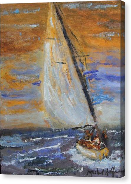 Sailng Nto The Sun Canvas Print