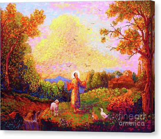 Catholic Canvas Print - Saint Francis Of Assisi by Jane Small