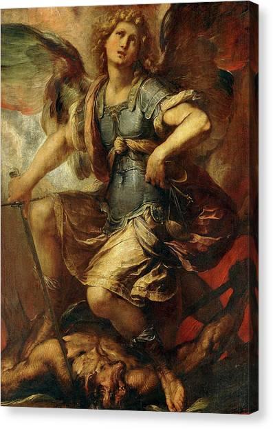 Procaccini Canvas Print - Saint Michael The Archangel by Giulio Cesare Procaccini