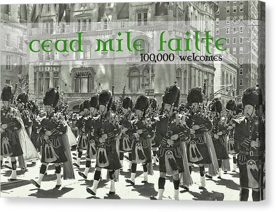 Saint Patricks Day Quote Canvas Print by JAMART Photography