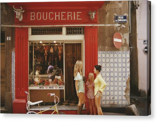 Saint-tropez Boucherie Canvas Print